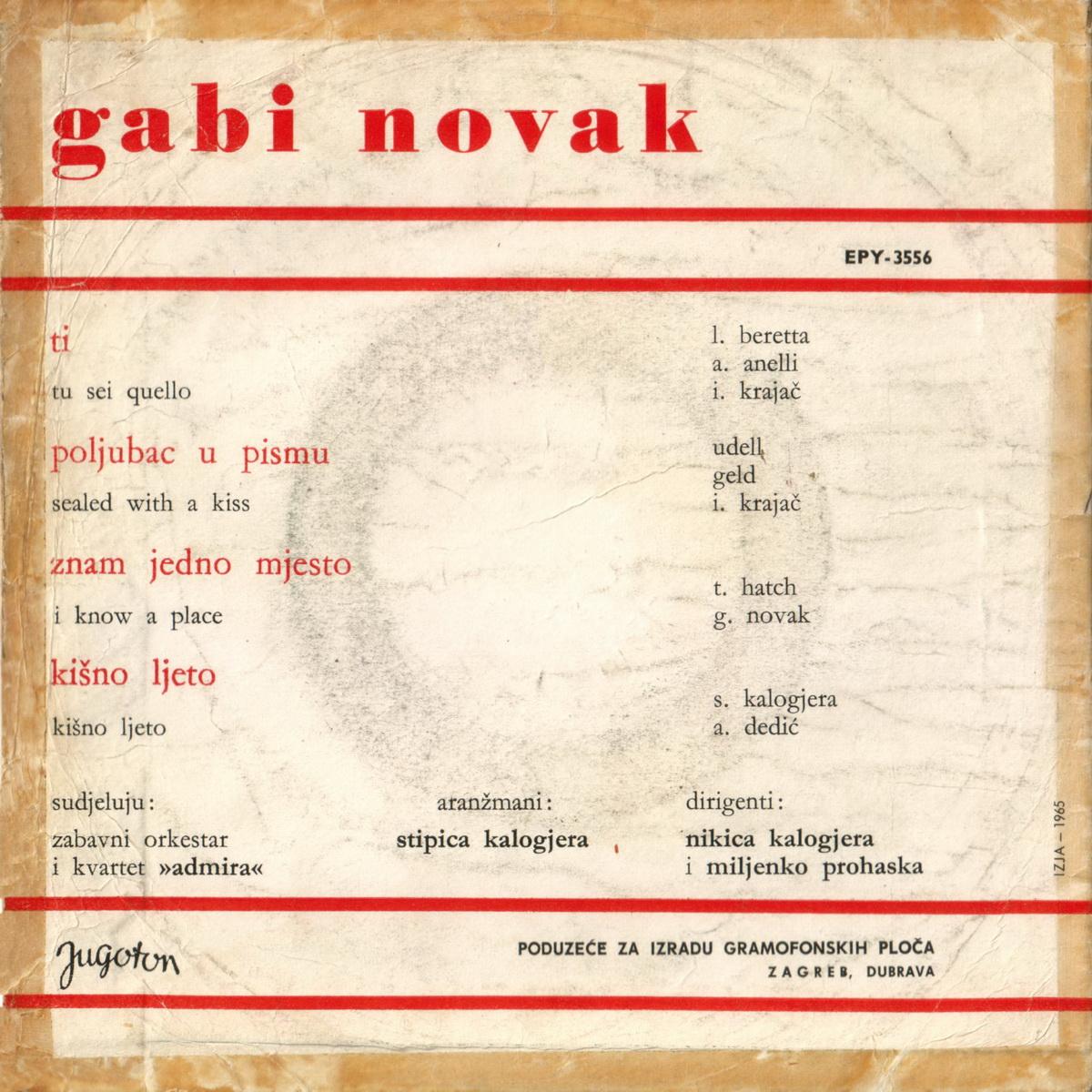 Gabi Novak 1966 Ti B