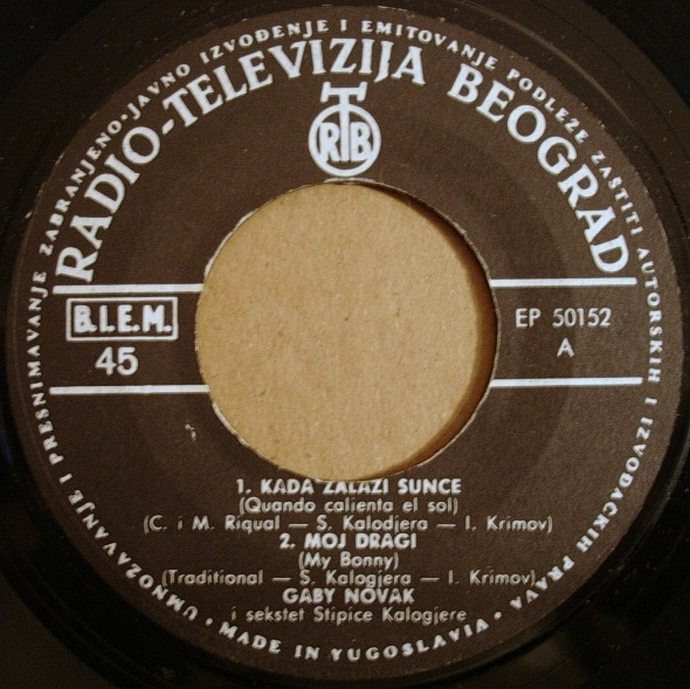 Gabi Novak 1963 Vrijeme za Twist vinil 1