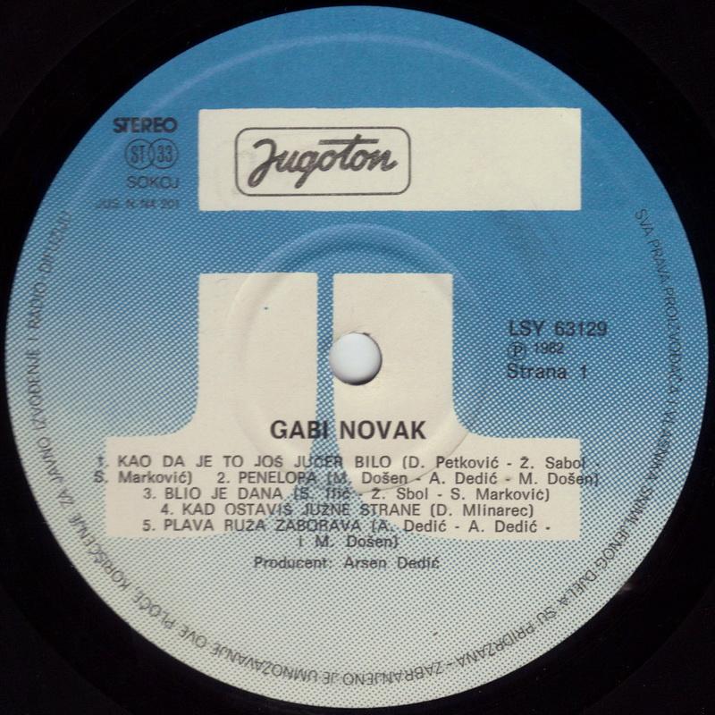 Gabi Novak 1982 Gabi Novak vinil 1