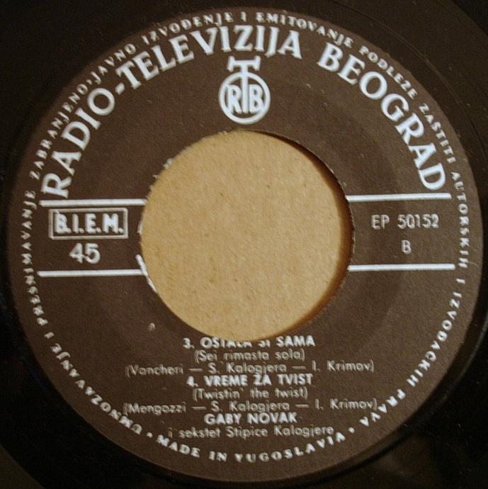 Gabi Novak 1963 Vrijeme za Twist vinil 2