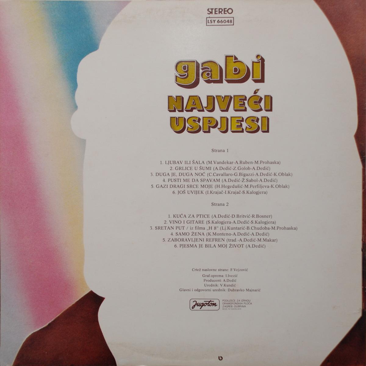 Gabi Novak 1978 Najveci uspjesi B