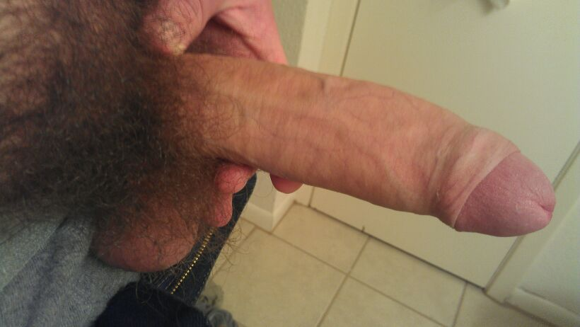 Camera guy closeup hairy frontal cock